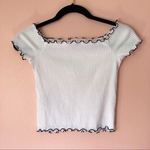 2a9e45dec50421 Zara Tops - Zara Off Shoulder Ribbed Top